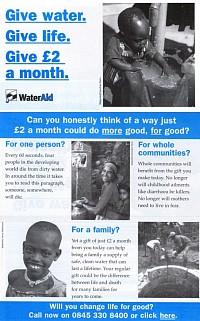 Donate to Water Aid.